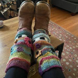 Handmade leg warmers 🌸🌺